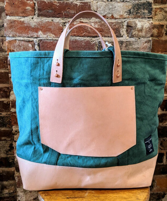 IMMODEST COTTON x Fleabags IMC BA - East West Bucket Tote, Pine