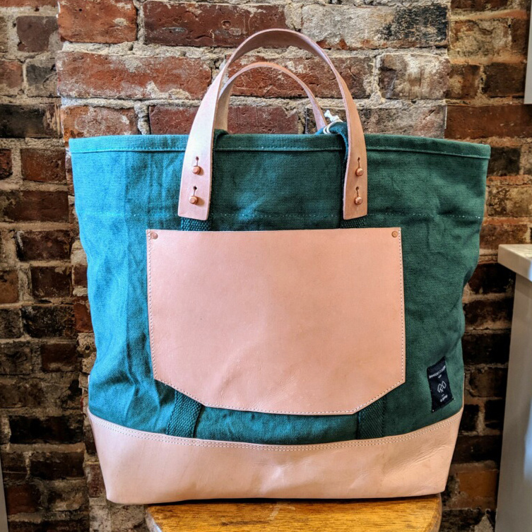 IMMODEST COTTON x Fleabags IMC BA - Pine East West Bucket Tote
