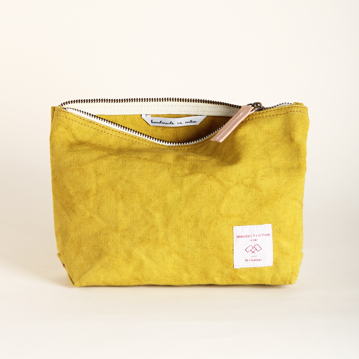 IMMODEST COTTON x Fleabags Chartreuse Mini Sardine Pouch