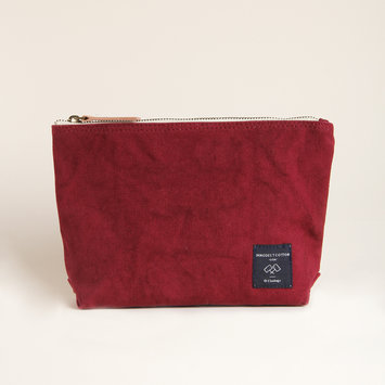 IMMODEST COTTON x Fleabags Plum Mini Sardine Pouch