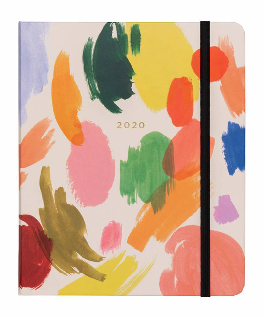 Rifle Paper Co. 2020 Palette Covered Spiral 17 Month Agenda