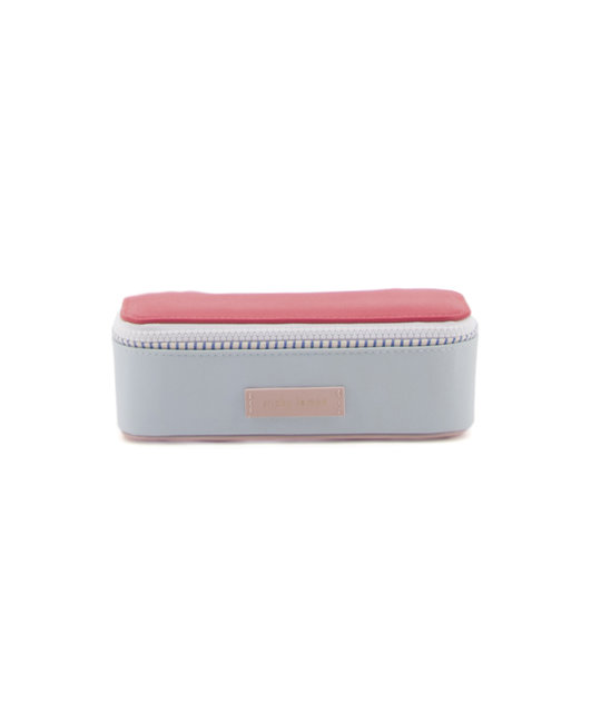 Sticky Lemon Colorblock Pencil Case, Red and Blue