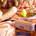 Sticky Lemon Colorblock Pencil Case, Orange and Lilac