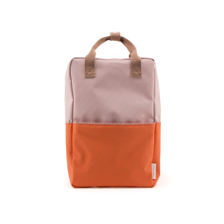Sticky Lemon Colorblock Backpack Large, Pink and Orange