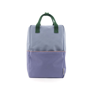 Sticky Lemon Colorblock Backpack Large, Blue and Purple