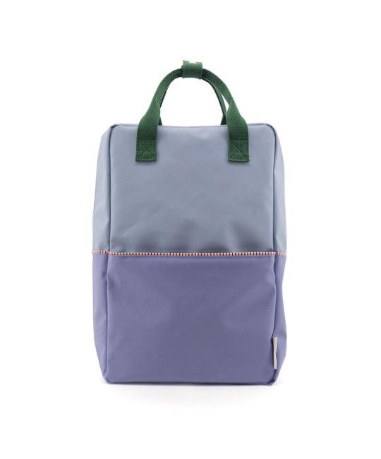 Sticky Lemon Colorblock Backpack Large, Blue and Purple