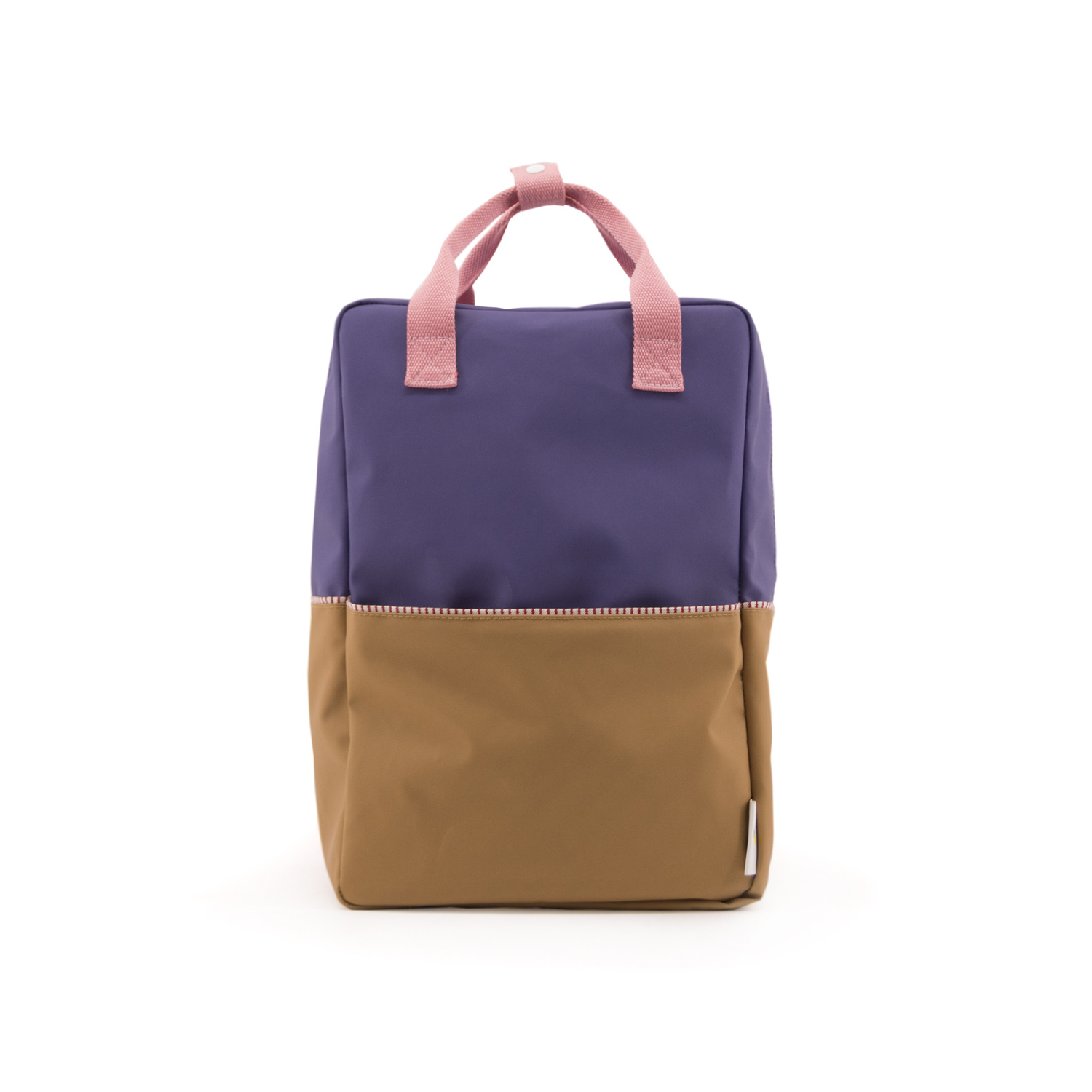 Sticky Lemon Colorblock Backpack Large, Purple and Brown
