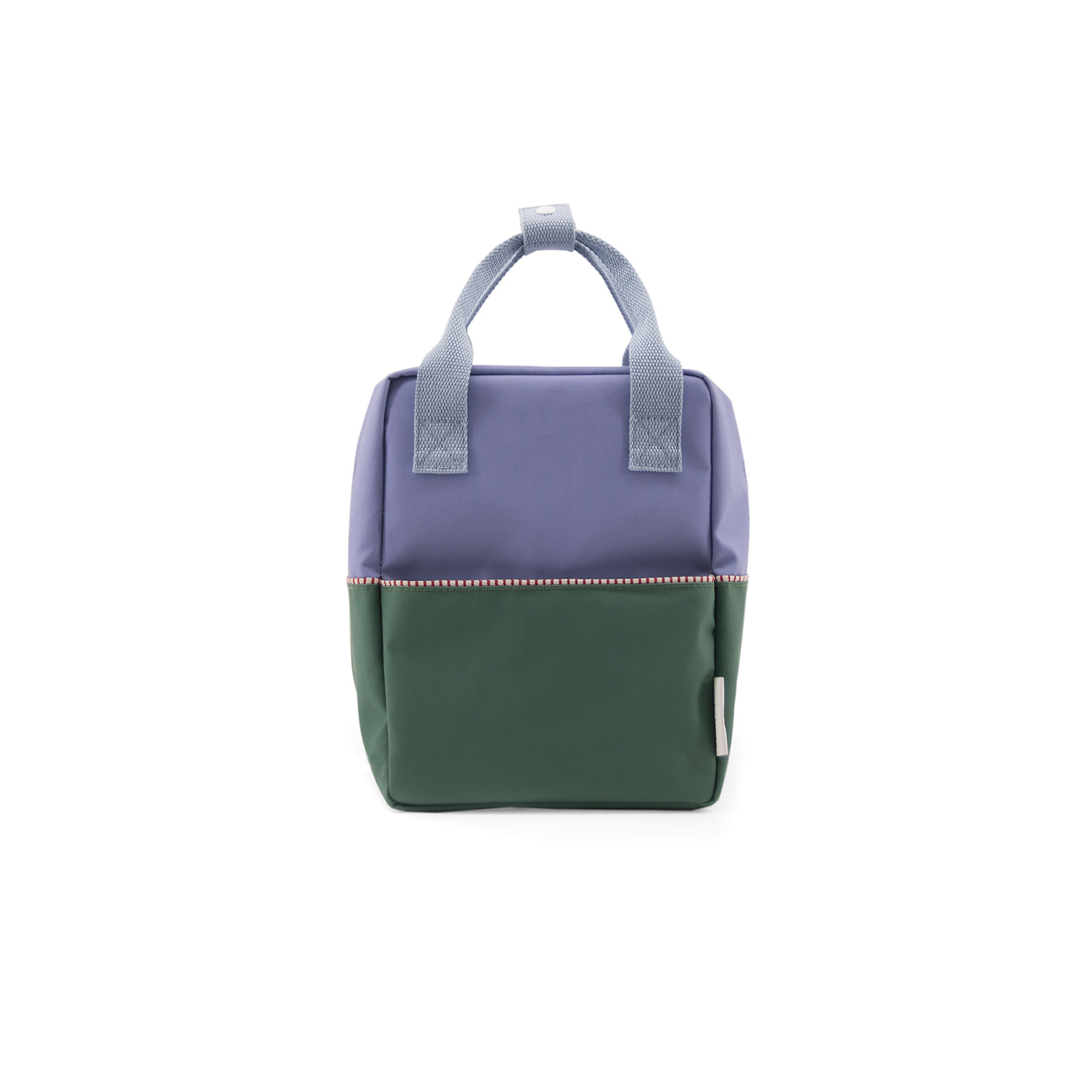 Sticky Lemon Colorblock Backpack Small, Purple and Green