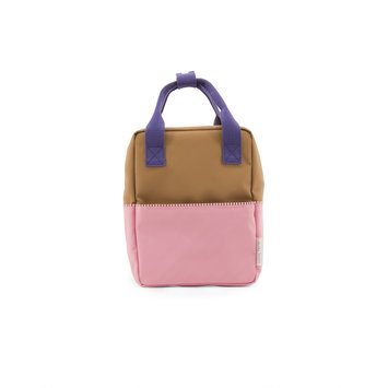Sticky Lemon - STL Colorblock Backpack Small, Brown and Pink