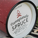 Paddywax Pomegranate & Spruce Alpine Enamelware Candle
