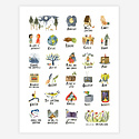 "Little Truths Studio - LTS The ABCs of Life - 11"" x 14"" Print"