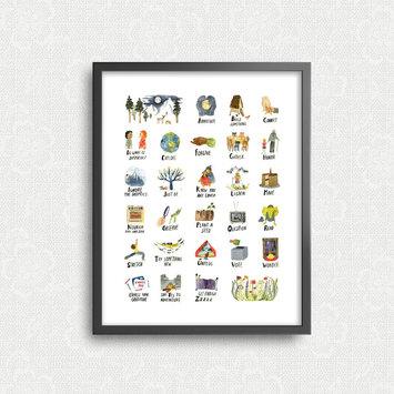 "Little Truths Studio The ABCs of Life - 11"" x 14"" Print"