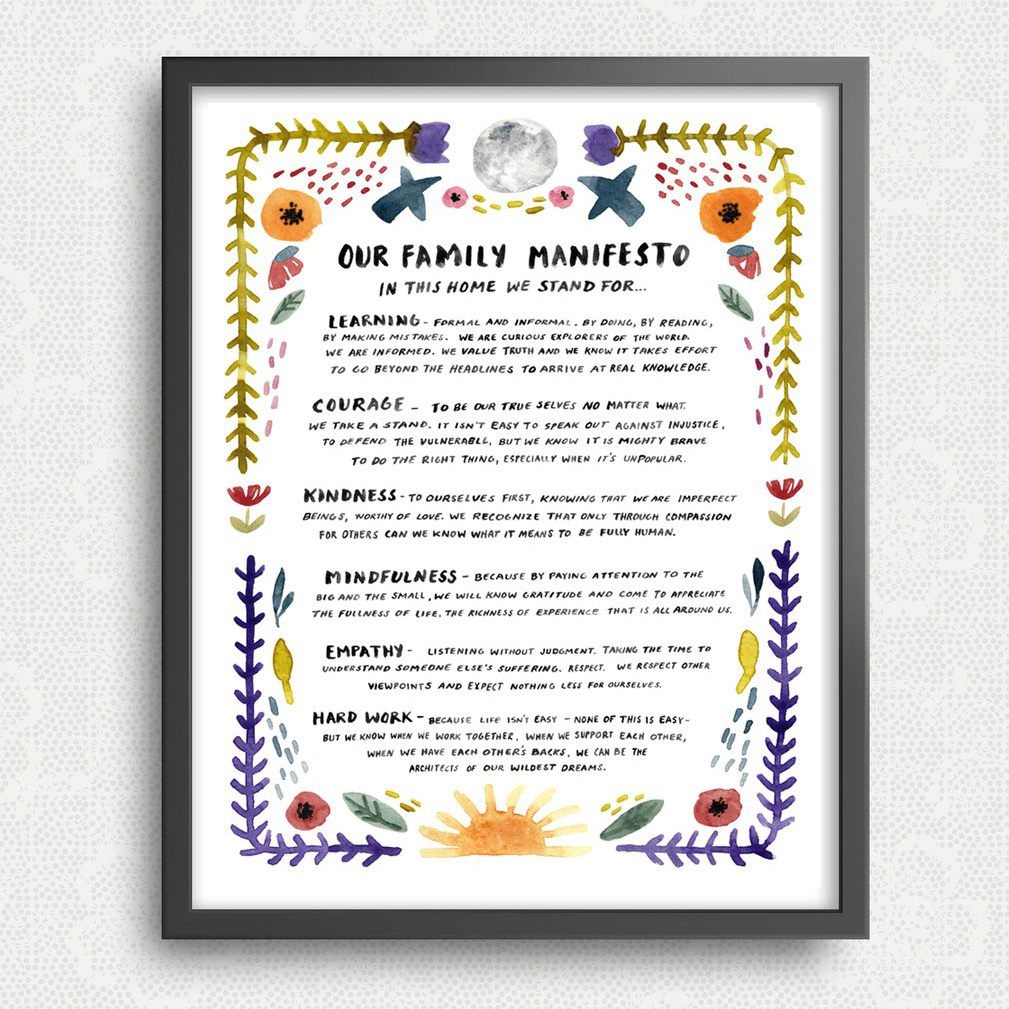 "Little Truths Studio Family Manifesto - 11"" x 14"" Print"