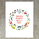 "Little Truths Studio Peaceful, Mindful 8.5"" x 11"" Print"