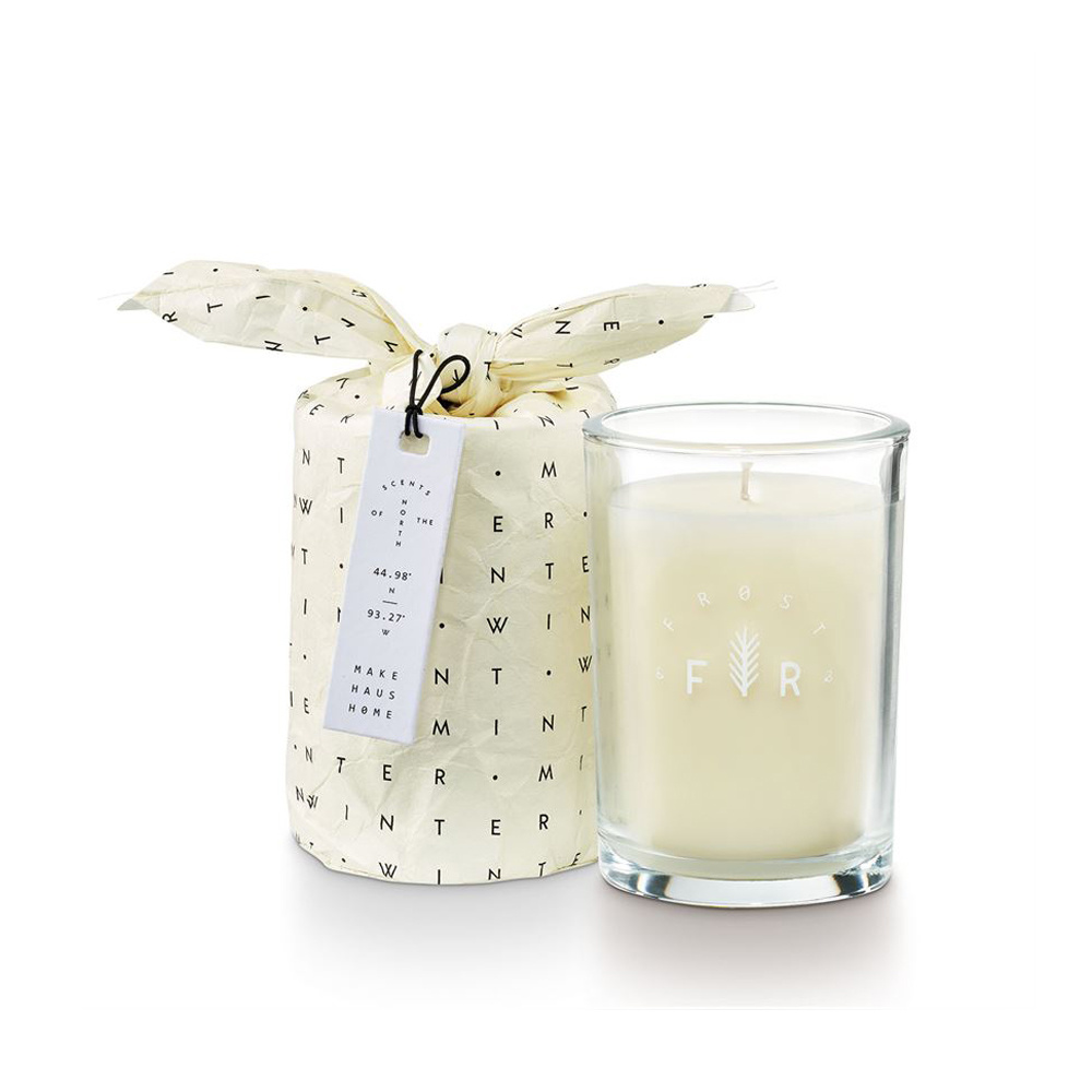 illume candles Winter Mint Bundled Glass Candle