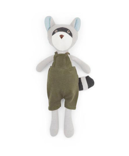 Hazel Village Max Raccoon in Picnic Overalls by Hazel Village