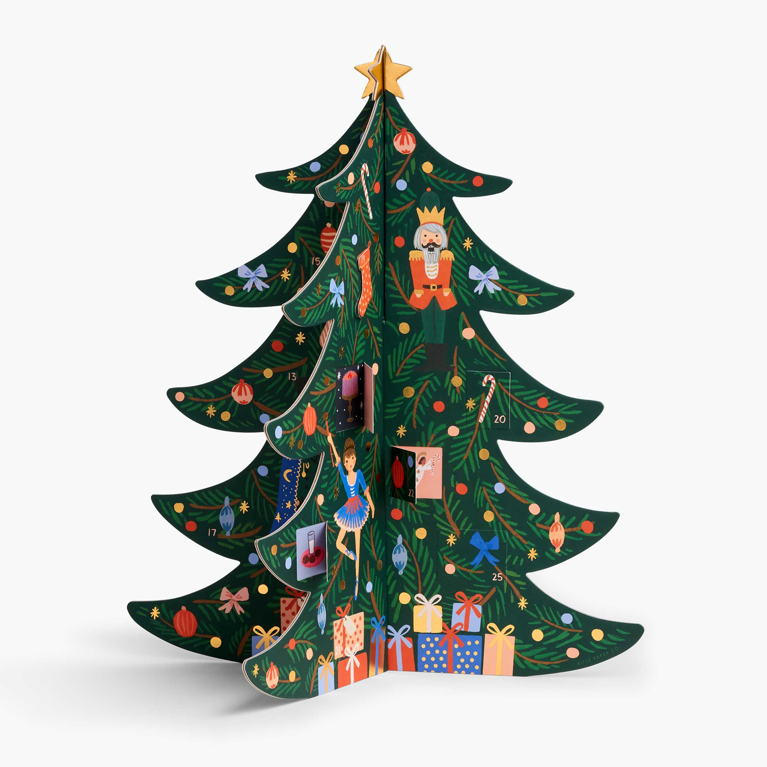 Rifle Paper Co - RP Rifle Paper Christmas Tree Advent Calendar