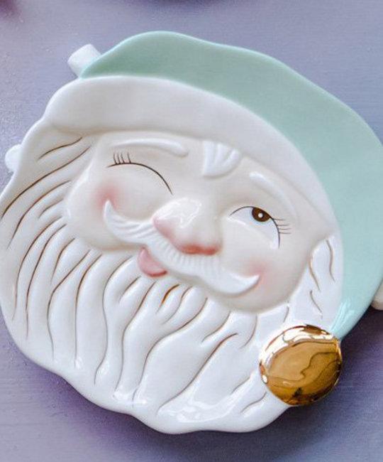 One Hundred 80 Degrees - 180 Papa Noel Mint Santa Cookie Plate