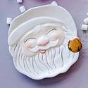 One Hundred 80 Degrees - 180 Papa Noel Sleepy White Santa Cookie Plate