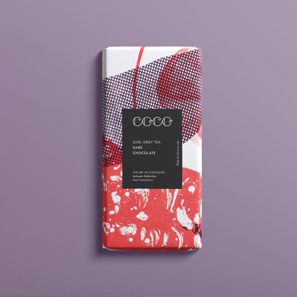 Coco Chocolatier Coco Chocolatier - Earl Grey Tea Chocolate Bar