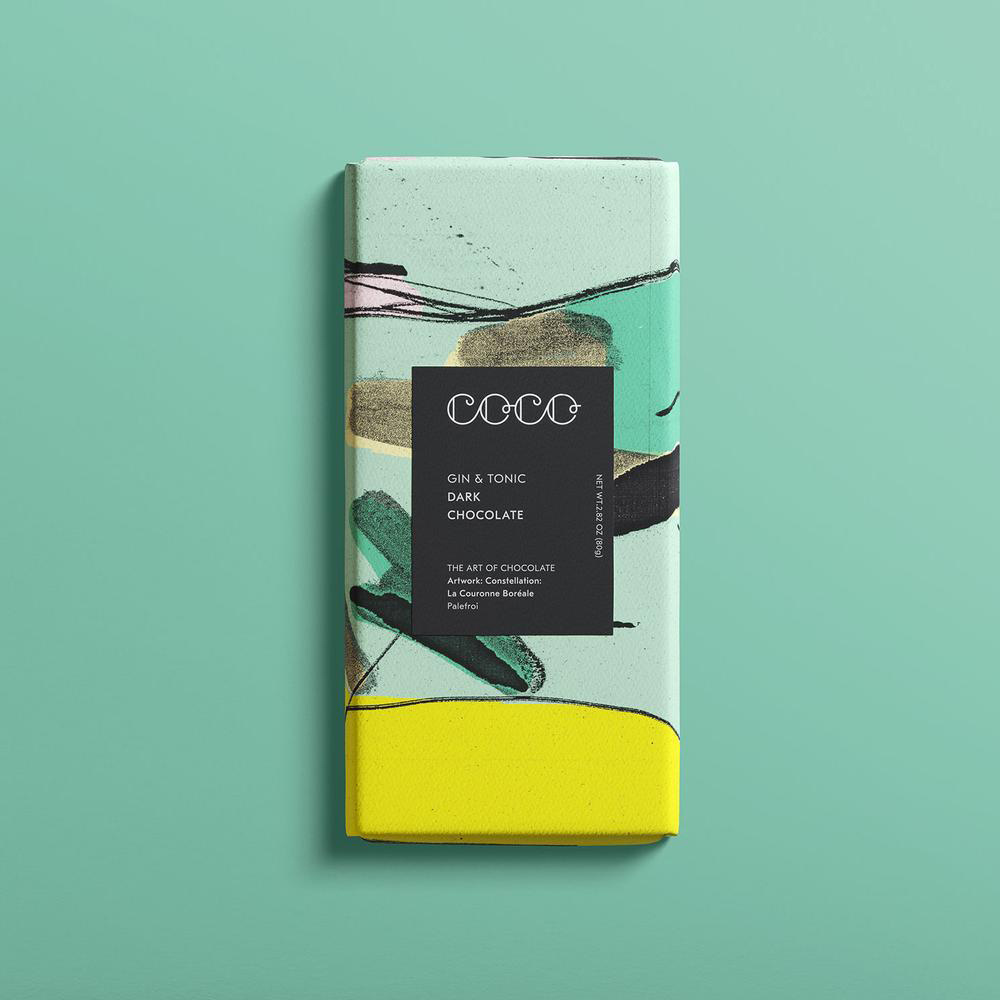 Coco Chocolatier Coco Chocolatier - Gin & Tonic Chocolate Bar
