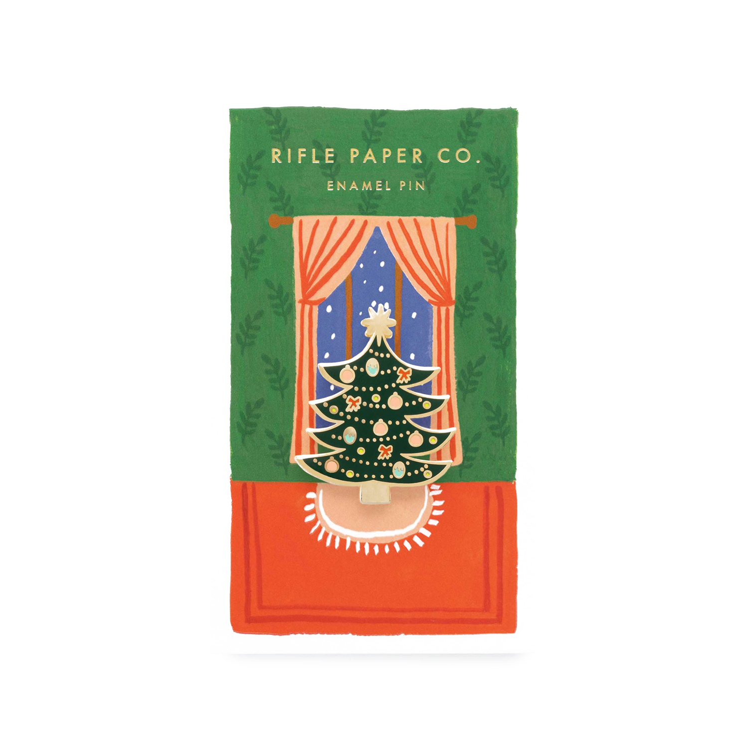 Rifle Paper Co - RP Rifle Paper Co Christmas Tree Enamel Pin