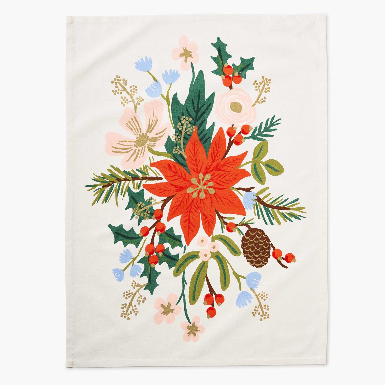 Rifle Paper Co - RP Rifle Paper Co Holiday Bouquet Tea Towel