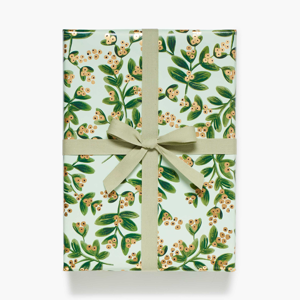 Rifle Paper Co. Rifle Paper Co Mistletoe Mint Continuous Wrapping Roll