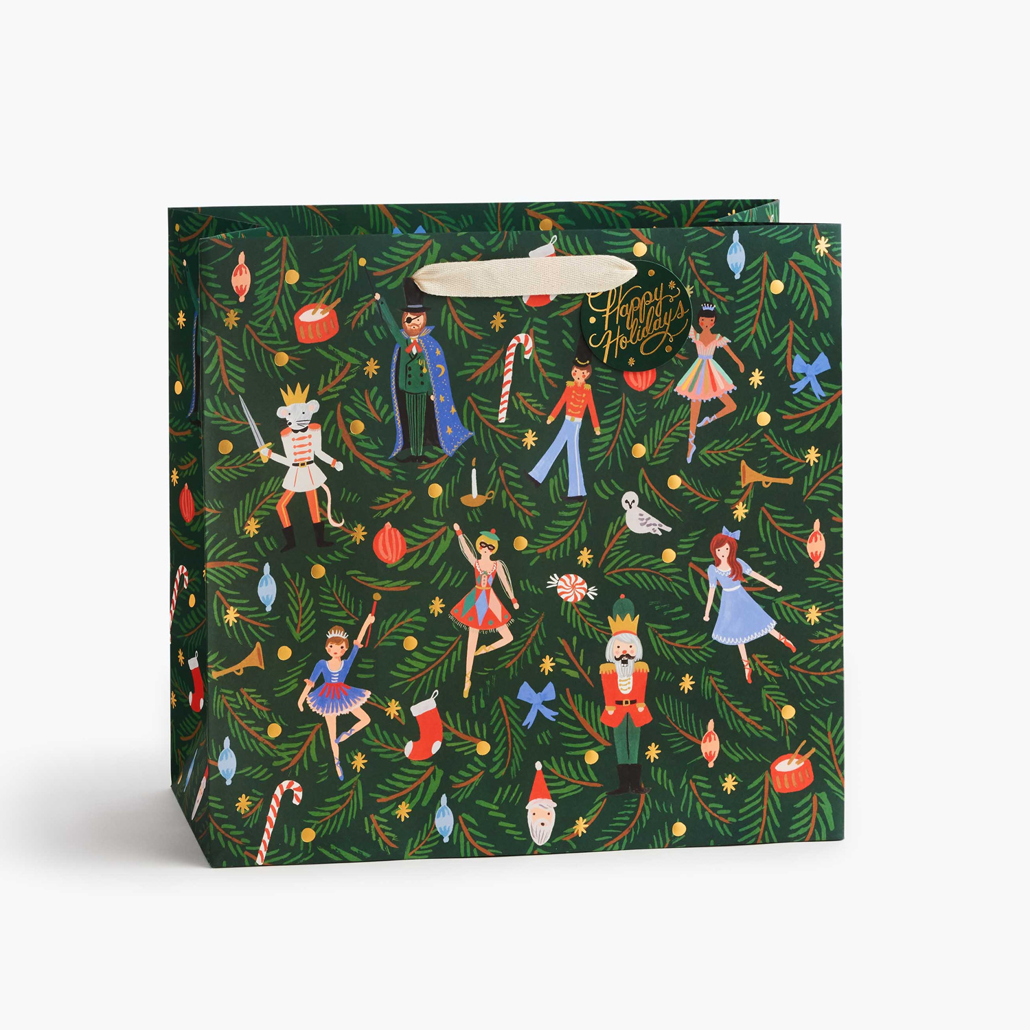 Rifle Paper Co - RP Rifle Paper Co Nutcracker Large Gift Bag