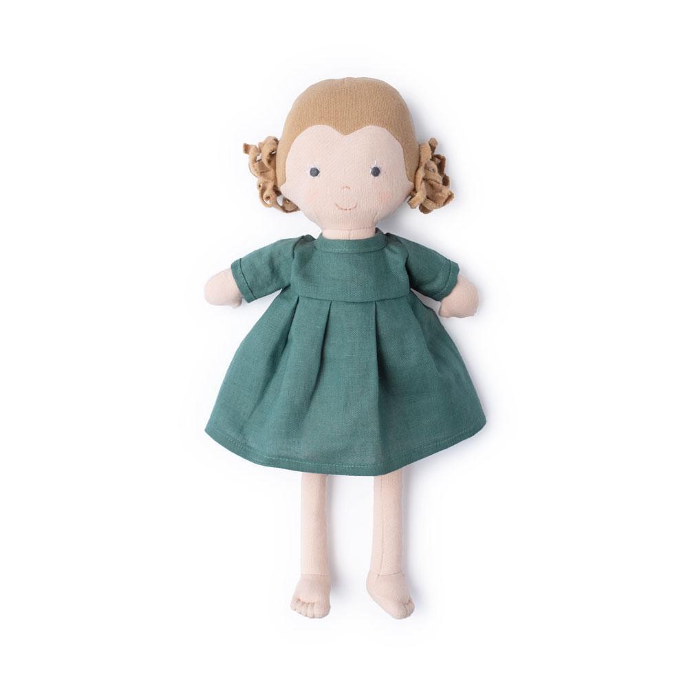 Hazel Village Hazel Village Doll -  Fern in River Green Linen Dress