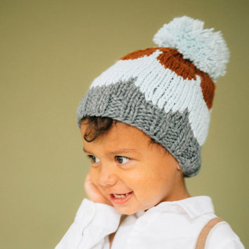 The Blueberry Hill Blue Scallop Knit Hat:  Medium 2-8 years