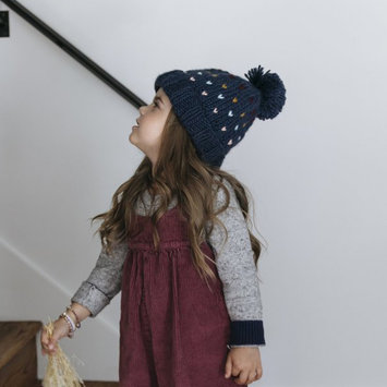 The Blueberry Hill Denim Heart Sawyer Hat: Medium 2-8 years