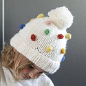 The Blueberry Hill Percy Rainbow Dot Beanie: Medium 2-8 years