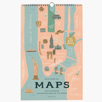 Rifle Paper Co. 2020 City Maps Wall Calendar