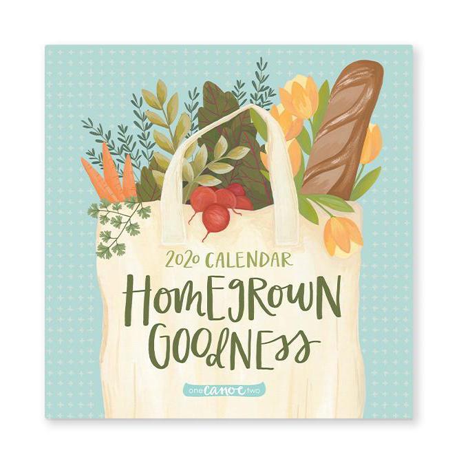 one canoe two letterpress 1Canoe2 - 2020 Homegrown Goodness Wall Calendar