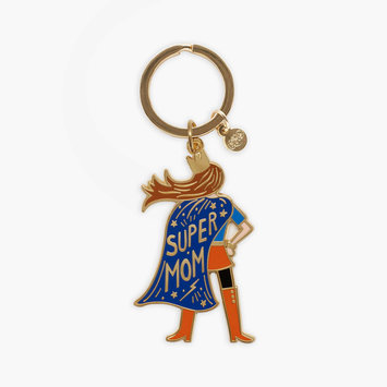 Rifle Paper Co. Rifle Paper Co - Super Mom Enamel Keychain