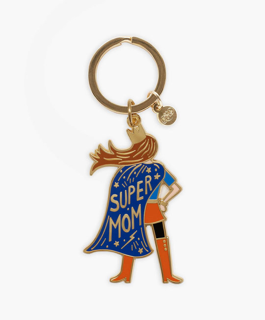 Rifle Paper Co - RP Super Mom Enamel Keychain