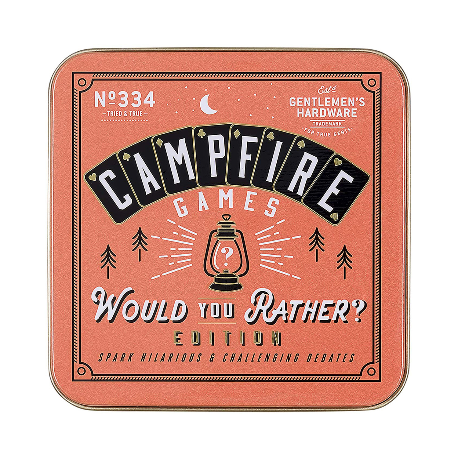 """Gentlemen's Hardware Campfire """"Would You Rather"""" Card Game"""