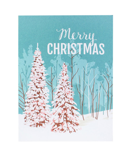 Smudge Ink Snowy Pines Noteset - set of 10