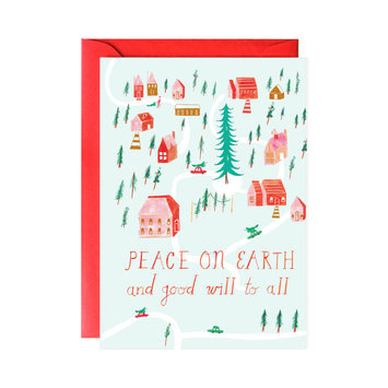 Mr. Boddingtons Studio Peace on Earth, Good Will to All Note Set - set of 6