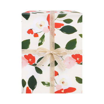 Our Heiday Holiday Florals Gift Wrap (Single Sheet)