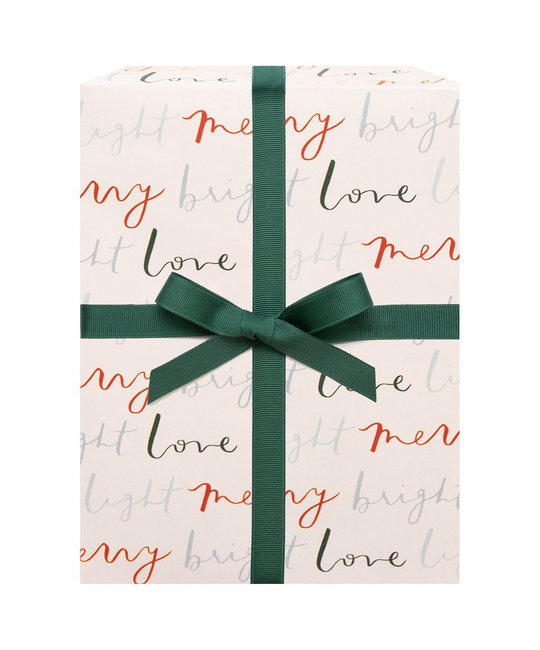 Our Heiday Merry Bright Love Light Gift Wrap (Single Sheet)