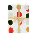 Our Heiday Dotted Holiday Gift Wrap (Roll of 3 Sheets)