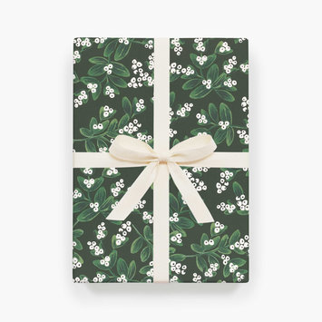 Rifle Paper Co. Evergreen Mistletoe Holiday Wrapping Sheet