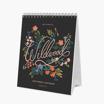Rifle Paper Co. 2020 Wildwood Desk Calendar