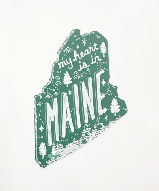 Noteworthy Paper and Press - NPP Maine State Sticker
