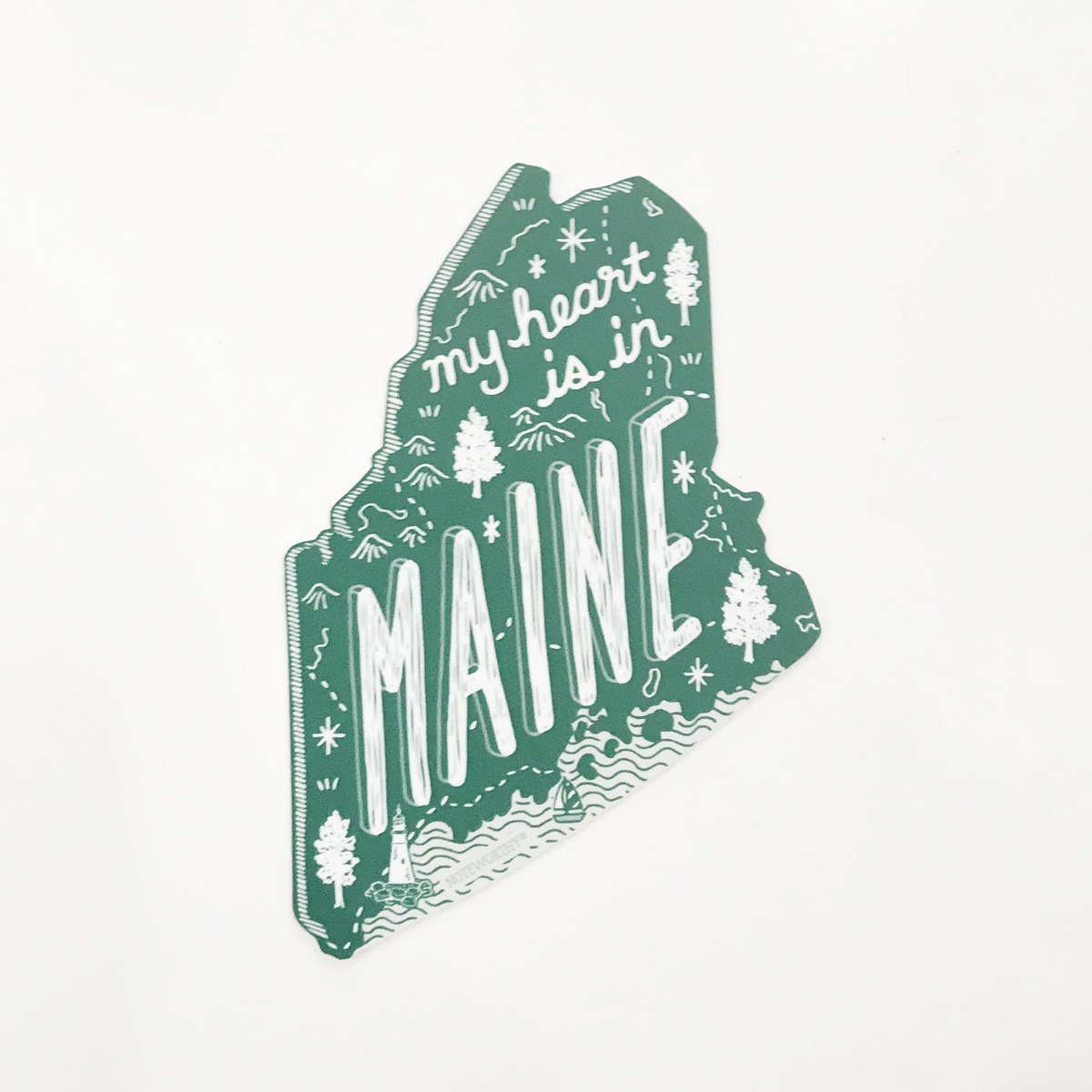 Noteworthy Paper and Press Maine State Sticker