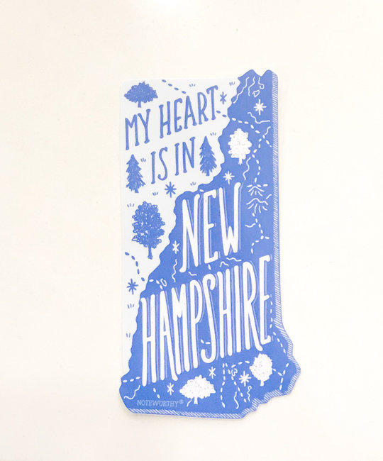 Noteworthy Paper and Press New Hampshire State Sticker