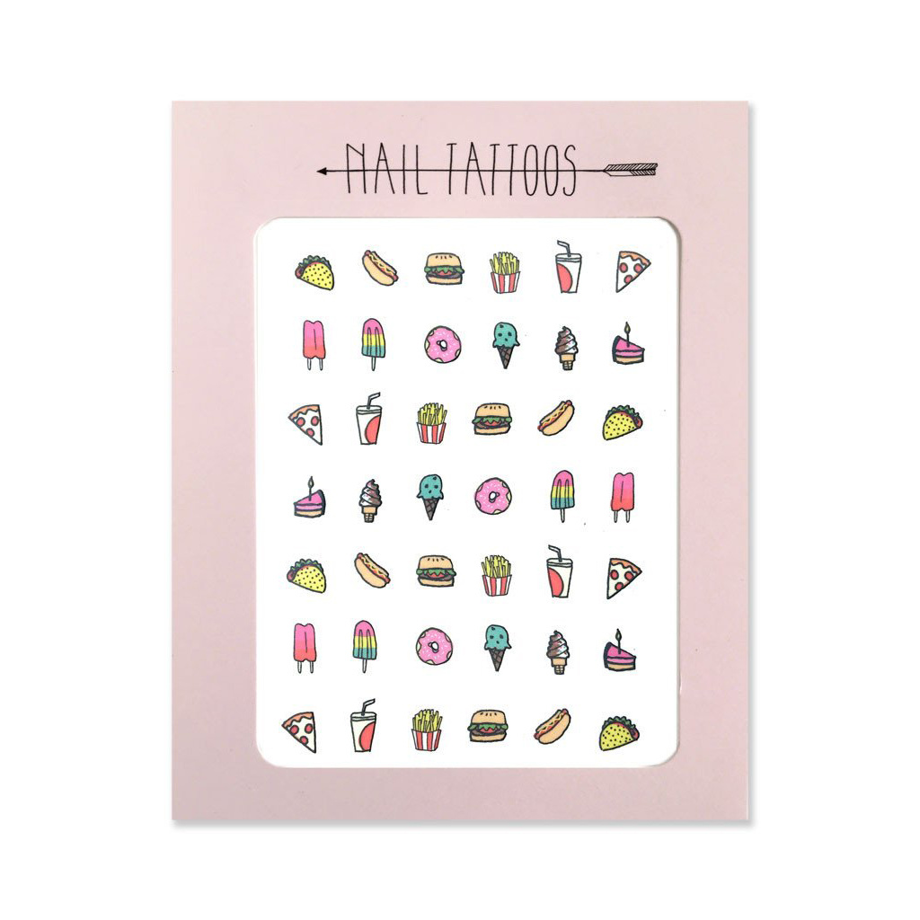 Hartland Brooklyn Junk Food Nail Tattoos