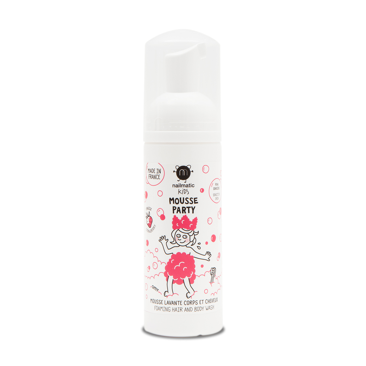 Nailmatic - NAI Kids Strawberry Foaming Hair and Body Wash